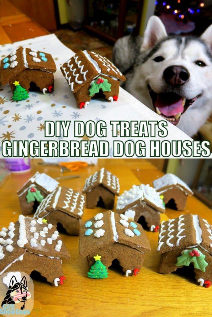 DIY Gingerbread Dog Houses for Christmas