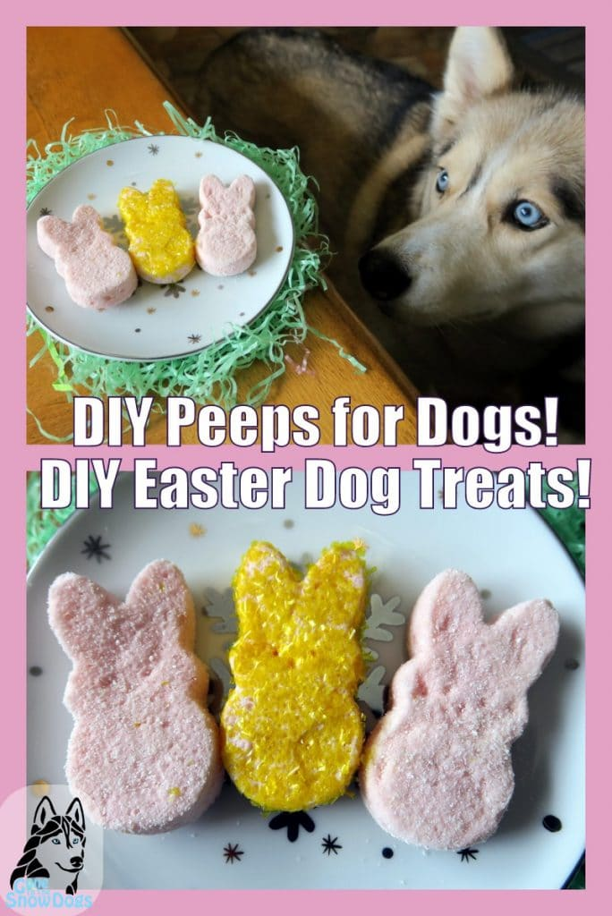DIY marshmallow Peeps for dogs