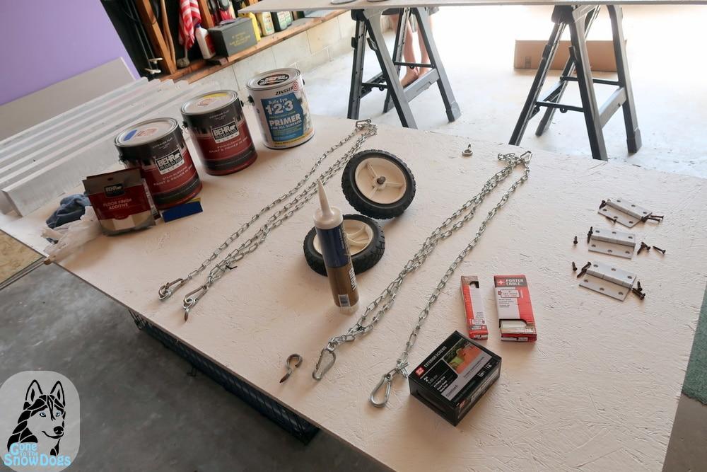 DIY A-Frame Materials