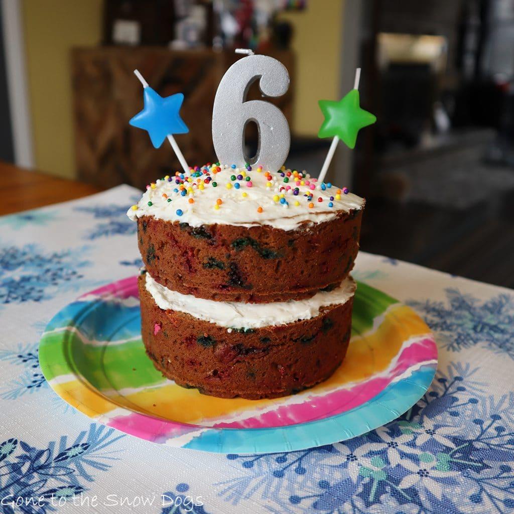 Funfetti Birthday Cake For Dogs
